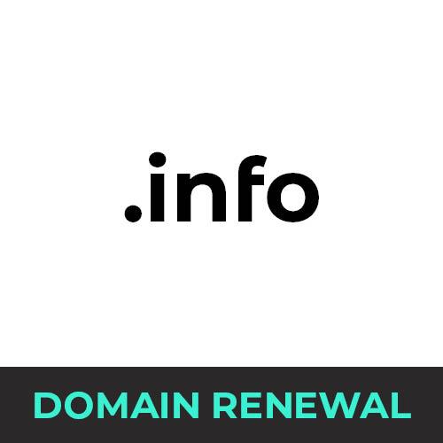 .info Domain Renewal